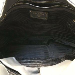 018fb9dd26a97c Prada Bags   Large Grey Saffiano Leather Tote W Nylon Co   Poshmark